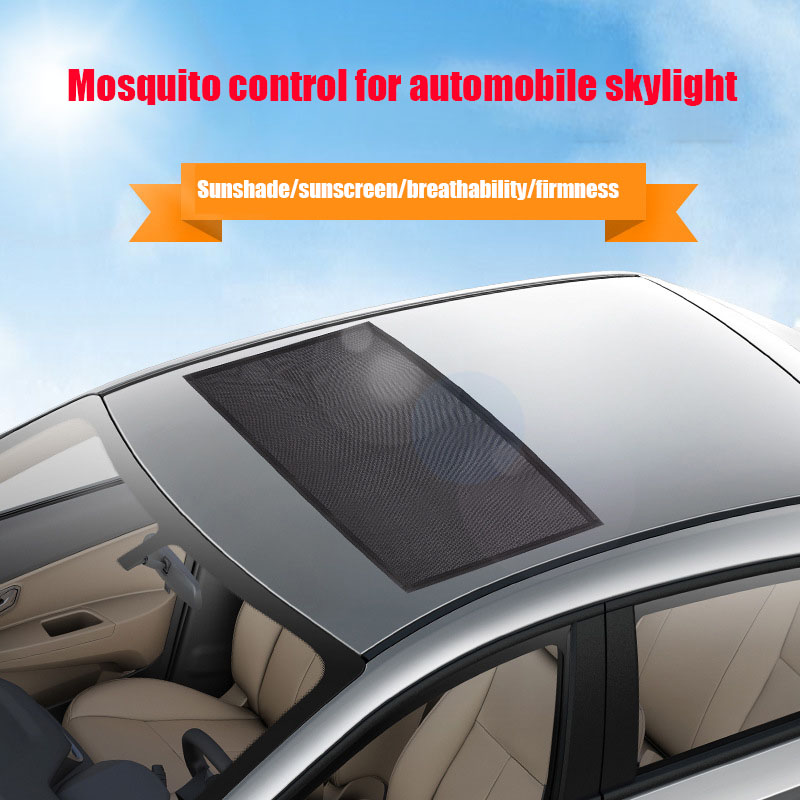 Hot Magnetic Car Sunroof Sun Shade Breathable Mesh Mosquito Proof Overnight Camping Protectors BX