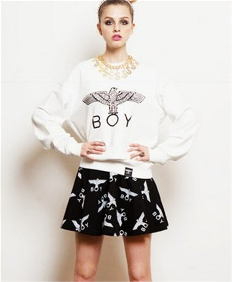 aegean fashion free shipping women eagle boy london pullovers big bang loose eagle pattern print. Black Bedroom Furniture Sets. Home Design Ideas