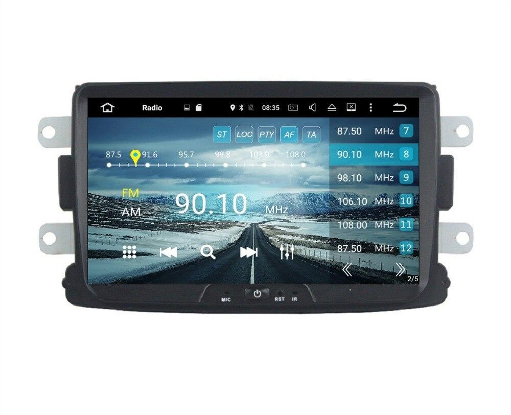 """Восьмиядерный 1 DIN 8 """"Android 6.0 автомобиль Радио DVD GPS для Renault Duster Logan Sandero с 2 ГБ оперативная память Bluetooth 32 ГБ Встроенная память Зеркало Ссылка"""
