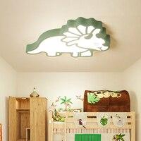 Children's room Modern led Chandelier bedroom lamp simple modern boy girl cartoon creative room dinosaur led ceiling chandelier