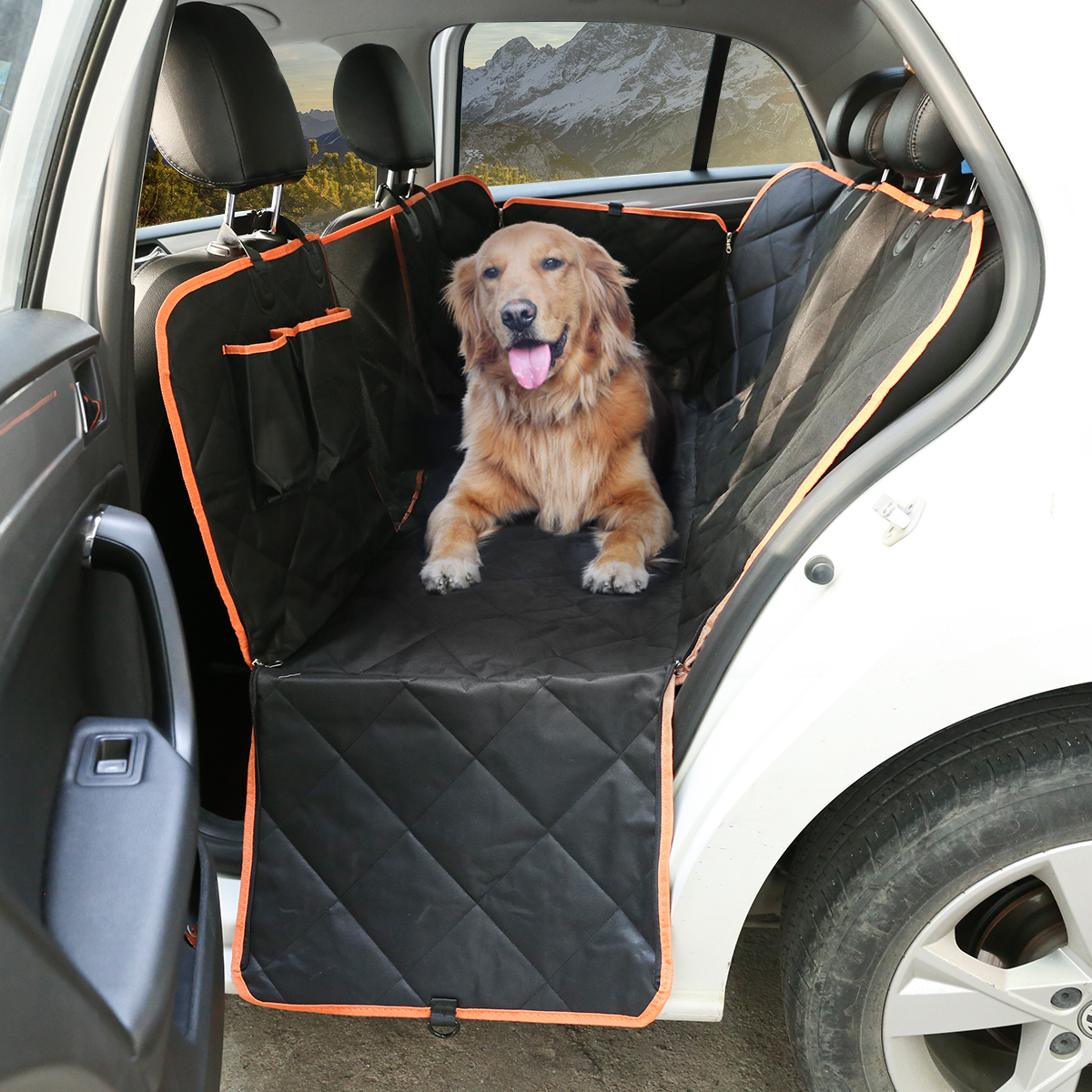 hammock cover auto cn car basket seat pet st waterproof dog mat itm black front
