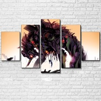 Canvas Painting Modular Wall Art 5 Pieces Animation Cartoon Characters Pictures Framework HD Prints For Living