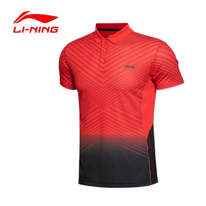 T-Shirt de Badminton pour hommes li-ning t-Shirt de Sport d'entraînement en Fiber de Polyester souple respirant à séchage rapide li-ning AAYK299 MTS1629