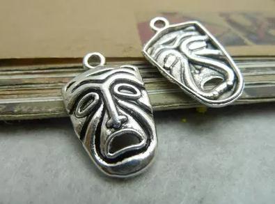 80d68cb9a32 Diy material de pulseira artesanal prata antiga 15 25 milímetros acessórios  de rosto máscara encantos Jóias acessórios