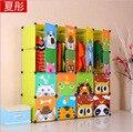 16 кубов детский мультфильм шкаф шкаф для хранения одежды дети шкаф организатор хранения организаторы 147 * 37 * 147 см