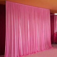 10x10ftアイスシルクエレガントな結婚式の背景カーテンドレープ結婚式用品カーテンドレープの背景パーティーイベント縛ら/パイプ