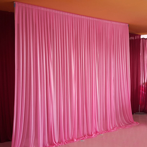 Image 1 - 10x10ft קרח משי אלגנטי חתונה וילון רקע וילון אספקת חתונה וילון וילונות רקע עבור מסיבת אירוע קשור/צייץ