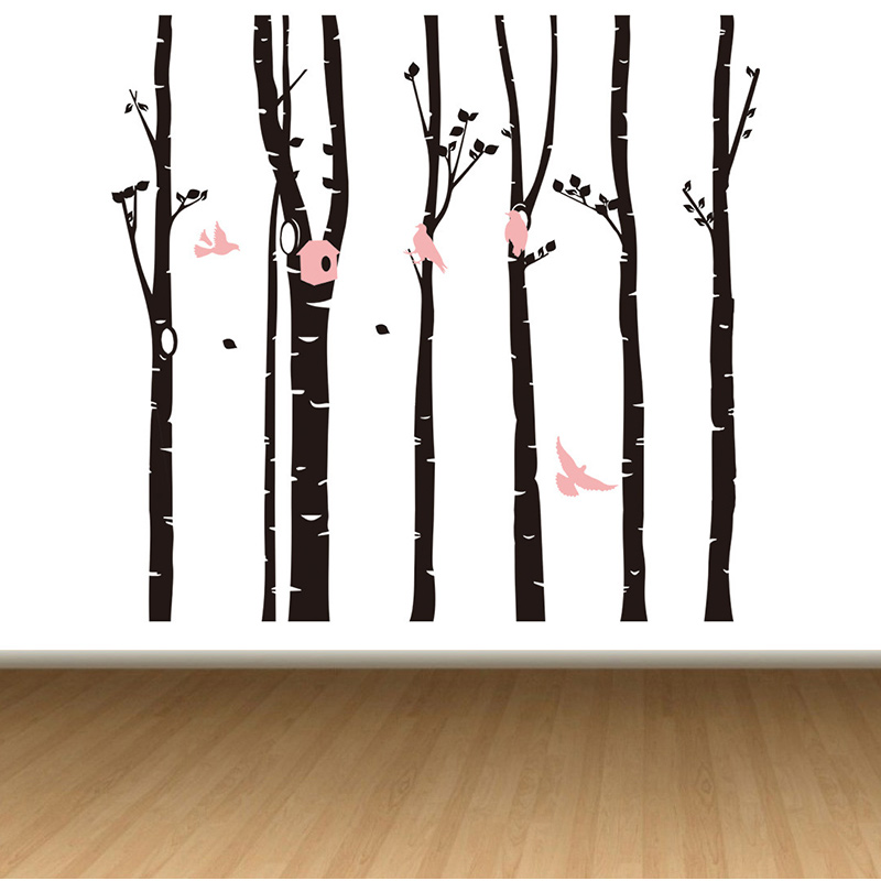 Bouleau arbres Stickers muraux arbre Sticker mural amovible noir bbouleau Stickers muraux arbres bébé pépinière chambre vinyle décor mural - 2