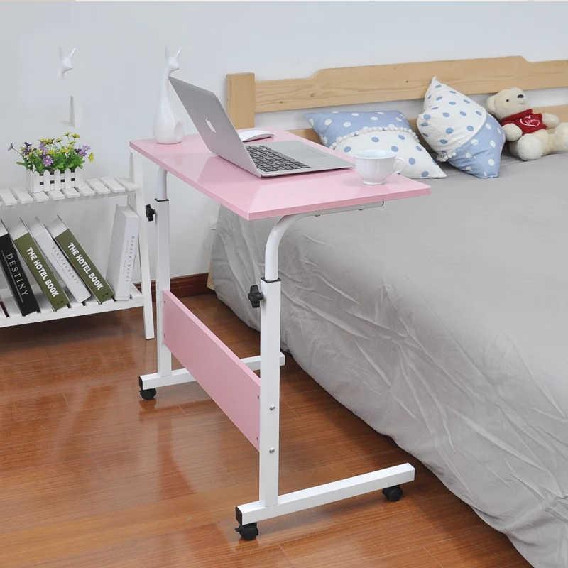 Mesa de ordenador portátil ajustable Escritorio de ordenador portátil rotar mesa de cama de ordenador portátil se puede levantar Escritorio de pie 60*40CM