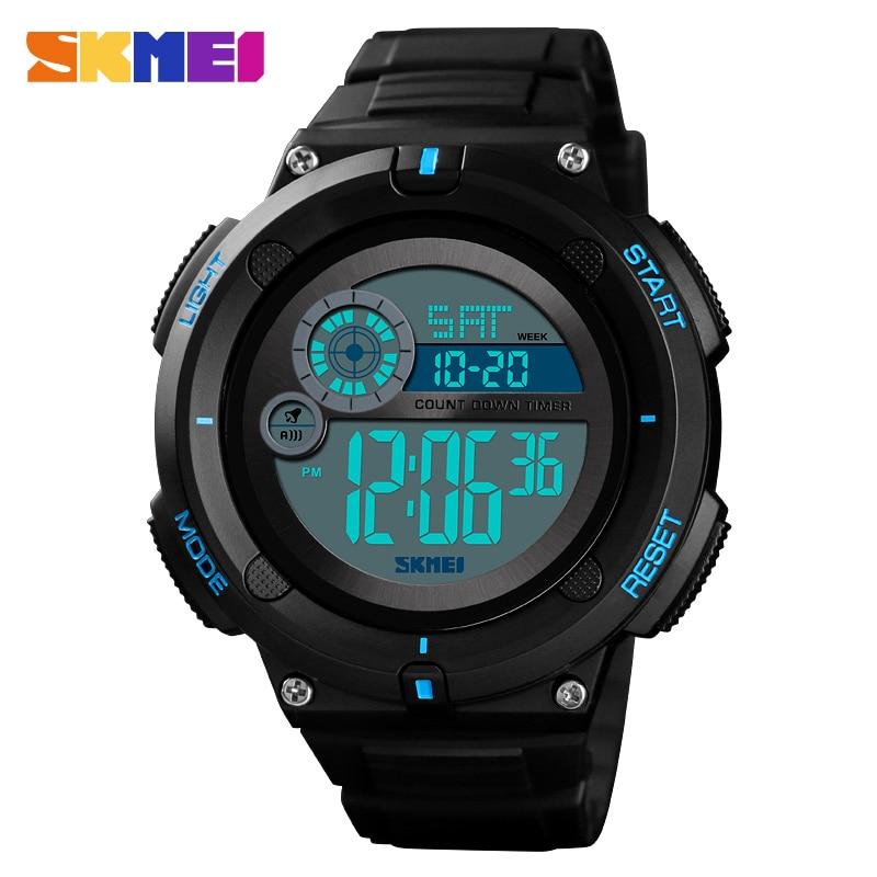 Skmei Men Watches Alarm-Clock Masculino Digital 2time Sport Waterproof EL 5bar for Man