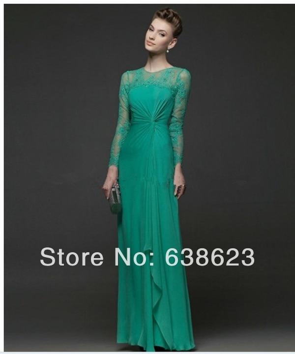 E evening dresses green