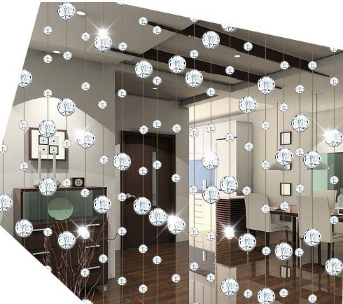free shipping 10meters/lot,AAA+glass Crystal wheel bead Curtain Divider glass Beaded Strands ...