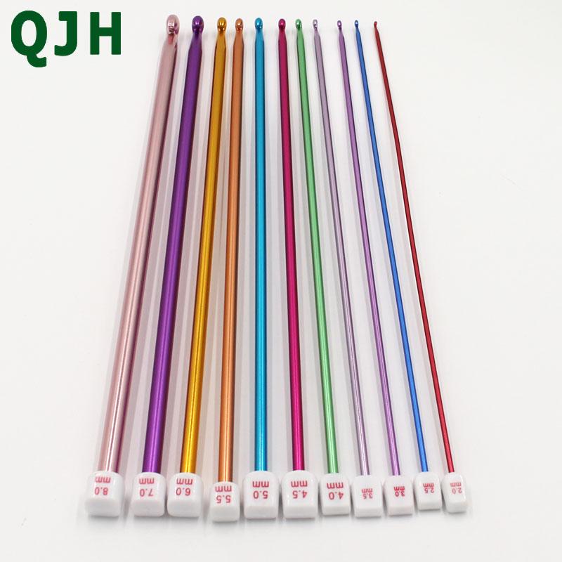8 un 6mm conjunto de artesanía de calidad Agujas de Tejer de plástico 25cm X 4mm 8mm 5mm