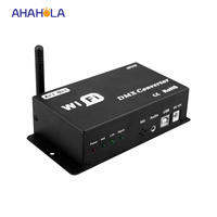12v wifi converter,convert wifi signal into dmx signal led lamp dimmer controller output dmx signal only phone IOS Andriod use