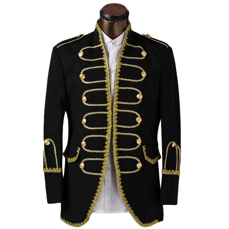 Buy Luxury Costume Homme Mariage Tuxedo Jacket Men Suit Fashion Gold Edge Mens