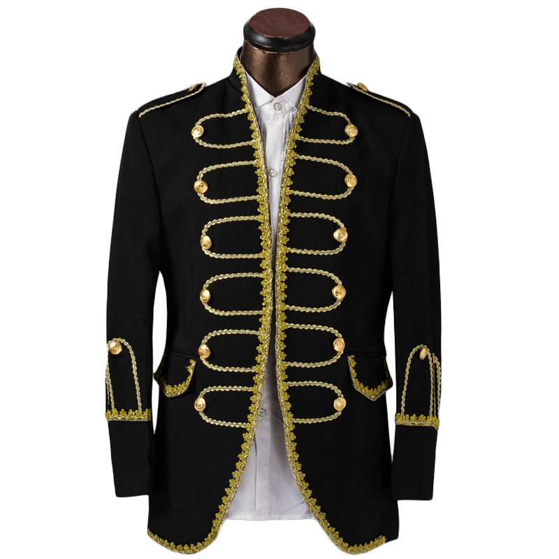 Buy luxury costume homme mariage tuxedo jacket men suit fashion gold edge mens Costume decontracte mariage