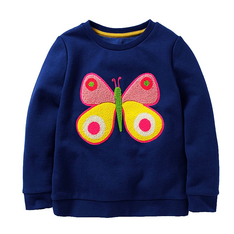 Girls Sweatshirt Baby Hoodie with Animal Applique 2018 Autumn Winter Kids Clothes Children Sweatshirts for Girls Hoodies 2-7T 1