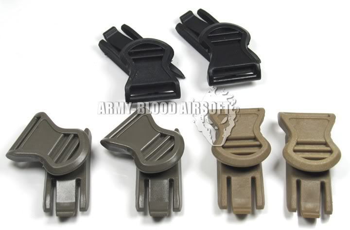 OPS-CORE Goggle Swivel Clips side rails goggles helmet buckle (19mm)