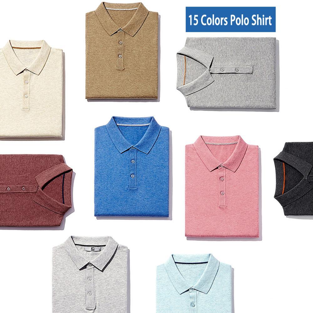 15 Farben Polos Männer Pullover Qualität Gekämmte Baumwolle Stricken Sommer Kurzarm Polo Männlichen Pullover Trun-unten Kragen Fit 4xl Muls Marke Dauerhafte Modellierung