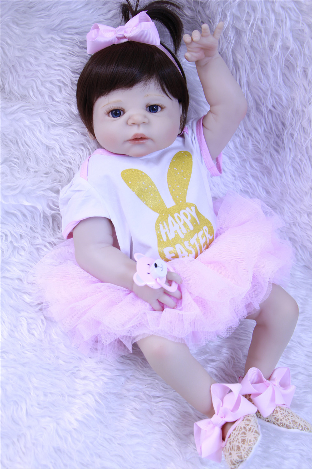NPKCOLLECTION brand Reborn baby doll 22 Full silicone reborn girl dolls gift children play house toys bebes reborn bonecasNPKCOLLECTION brand Reborn baby doll 22 Full silicone reborn girl dolls gift children play house toys bebes reborn bonecas
