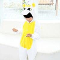 Flannel Kids Unicorn Pajamas Cosplay Animal Onesie Children S Interior Clothing Pijama Infantile Kids Girl Boy