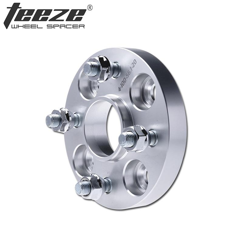 TEEZE-(1 PC) 4 cosse 20mm adaptateurs cales PCD 4x100 entretoises de roue CB 57.1mm pour E30 alliage d'aluminium 6061-T6 Adaptador Rueda