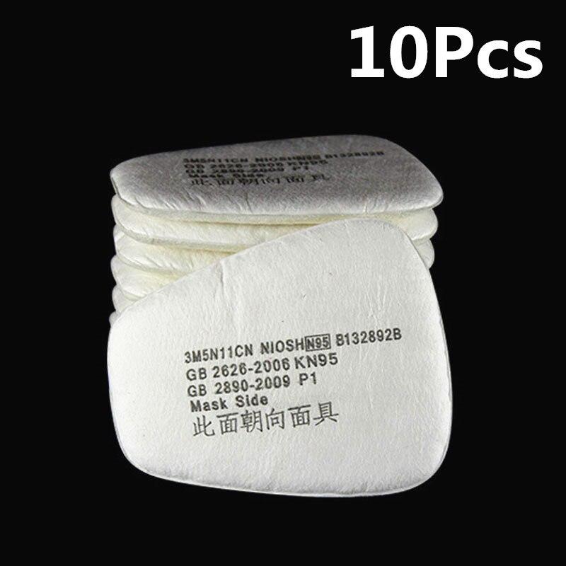 10 Piezas Química Anti-polvo De La Pintura De Respirador De Soldadura Máscara De La Seguridad Industrial Máscaras De Gas Activado 5n11 Filtros De Carbono Servicio Durable