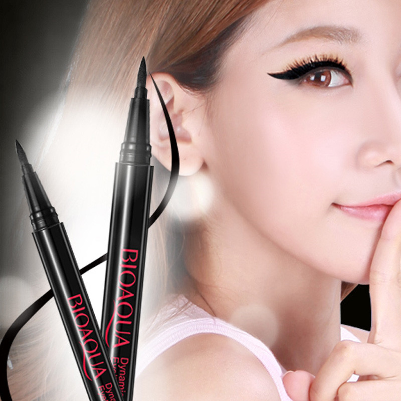Eye Liner Pencil Black Long Lasting Waterproof Smudge-Proof Cosmetic Beauty Makeup Liquid Eyeliner Pen