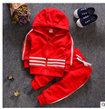 2016  Autumn Boy Girl Set -Piece Children Clothing Conjunto Infantil Toddler Baby Suit Vetement Enfant Kids Clothes
