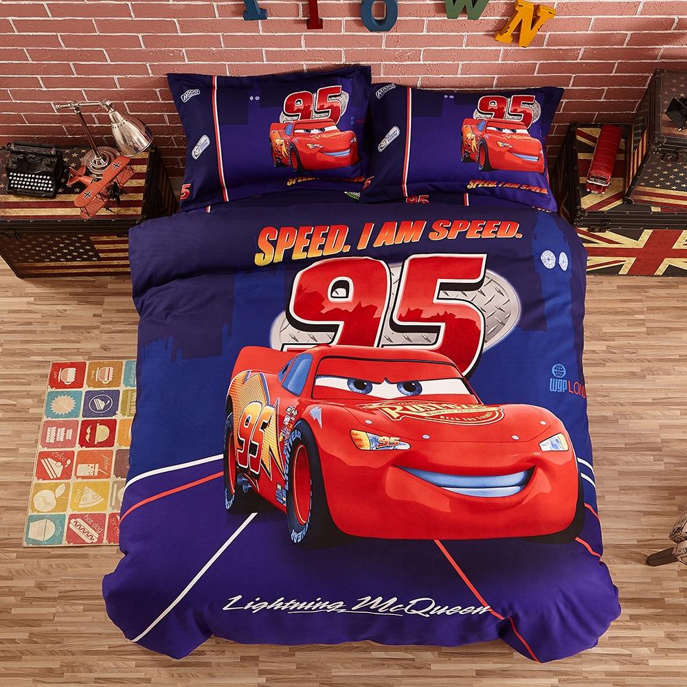 Disney Mickey moon parure de lit bleu housse de couette drap plat taies d'oreiller simple reine taille linge de lit pour enfants