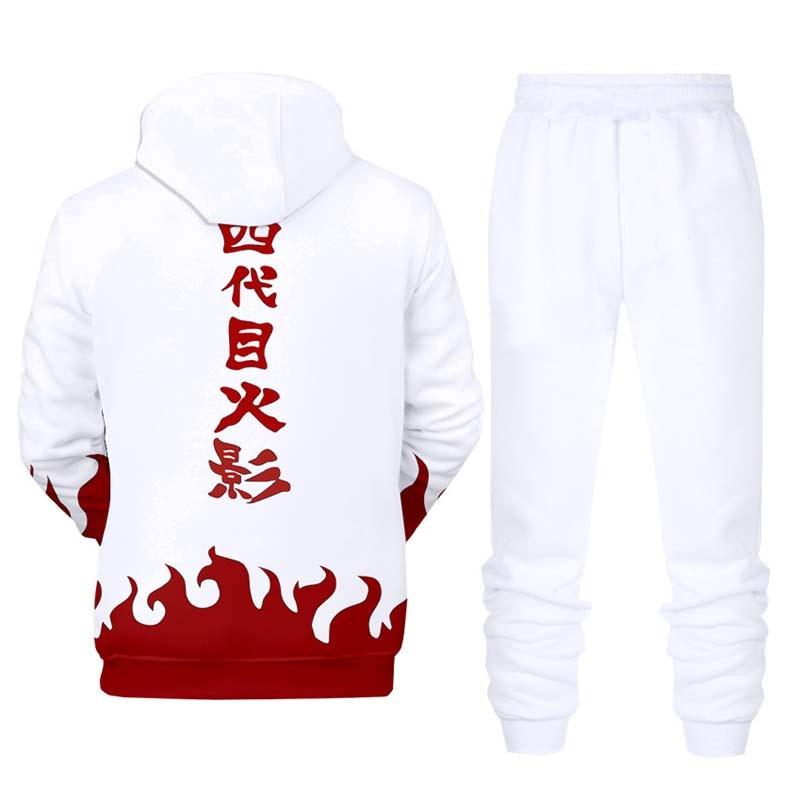 Flight Tracker Naruto 3d Digital Print Pullover Hoodie Mit Kapuze Sweatshirt & Jogginghose 2 Stück Set Herbst Trainingsanzug Männer Casual Sportwear Männlichen Anzug