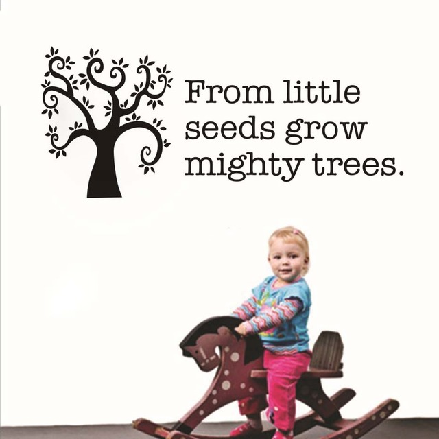 From Little Seeds Grow Mighty Trees Inspirational Quote Wall Decal
