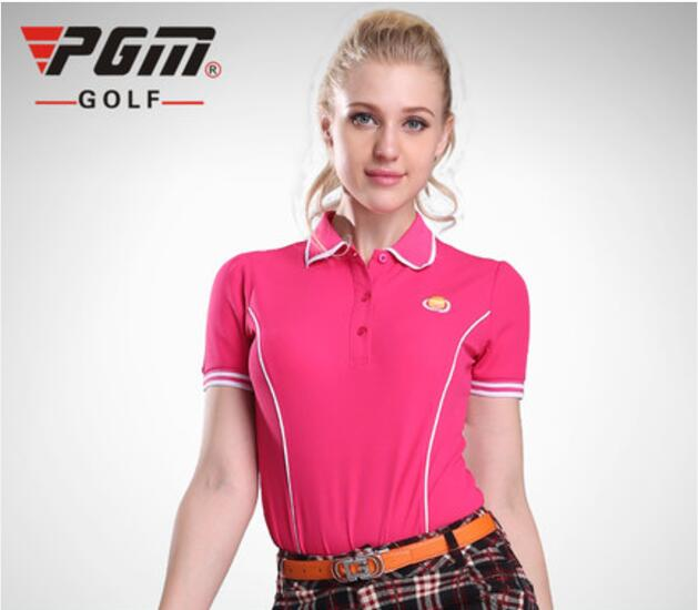 PGM 2017 New Womens Golf Polo Shirts Short Sleeve Summer Polyester Golf Shirts for Women Quick Dry Polo Clothes,Free shipping PGM 2017 New Womens Golf Polo Shirts Short Sleeve Summer Polyester Golf Shirts for Women Quick Dry Polo Clothes,Free shipping