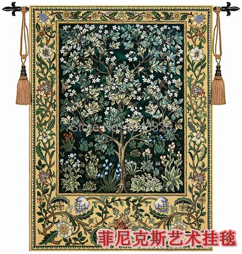 Home Textile Decoration Tapestry William Morris - Tree Of Life Green Belgium 89*68cm Wall Hanging Painting PT-35