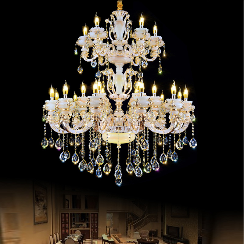 Modern Crystal Chandelier Lighting Kitchen Chain Branch Chandeliers Large Brass High Ceiling In From Lights