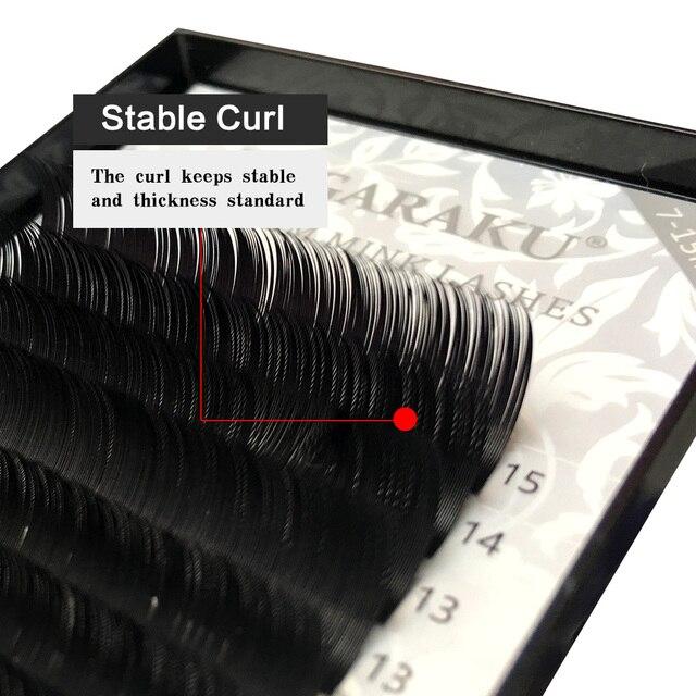 NAGARAKU 16rows 7~25mm mix premium natural synthetic mink individual eyelash extension maquiagem cilios makeup tool 6