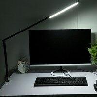 Home Office Table Lamp Metal Long Arm Folding Desk Lamp Light Flexible LED Clip On Desk