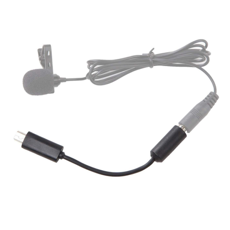 For GoPro Accessories 1pc Mini Mico USB to 3.5mm Audio Jack Microphone Mic Adapter Cable Cord For Gopro Hero 3 3+ 4