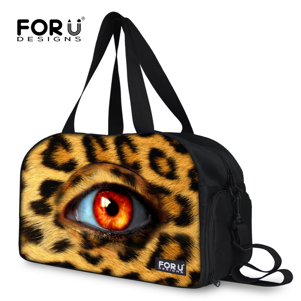 Mulitifunctional Womens Travel Bag Large Capacity Female Duffle Bag With Independent Shoe Pocket Leopard Bolsa Feminina