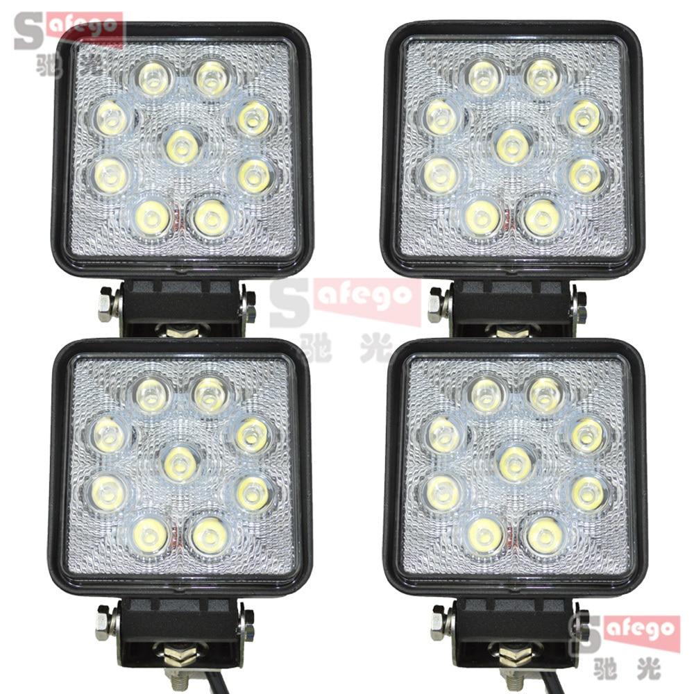 "27W LED Work Light 4 inch"" Inch 12V 24V Spot Flood Lamp for Motorcycle Tractor Truck Trailer SUV Off roads Boat 4WD Light"""