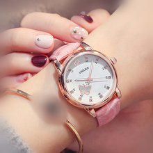 2019 Cute Butterfly Luminous with Waterproof Female High School Students Trend Watch for Women Fashion & Casual Chronograph