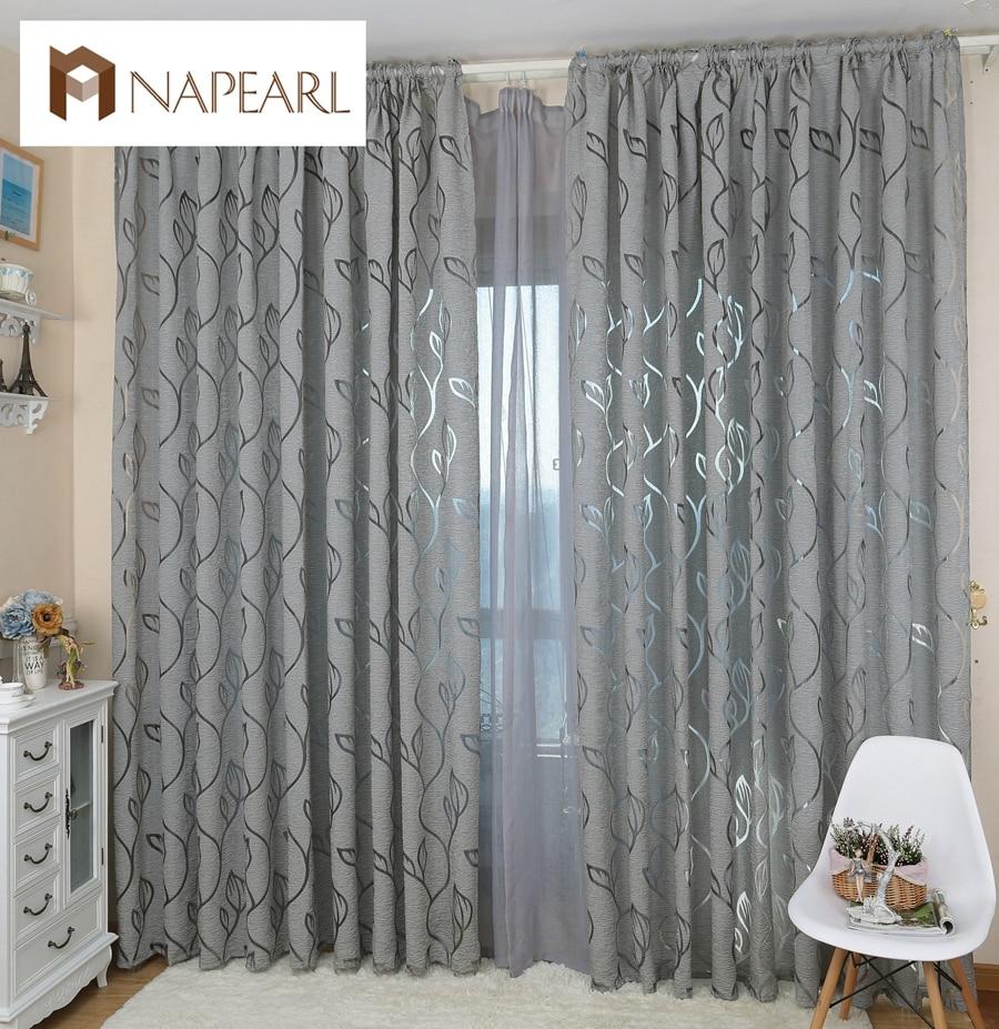 US $5.21 34% di SCONTO|NAPEARL decorativa Moderna tende jacquard grigio  tende tenda di finestra per la camera da letto finestra cieca-in Tende da  Casa ...