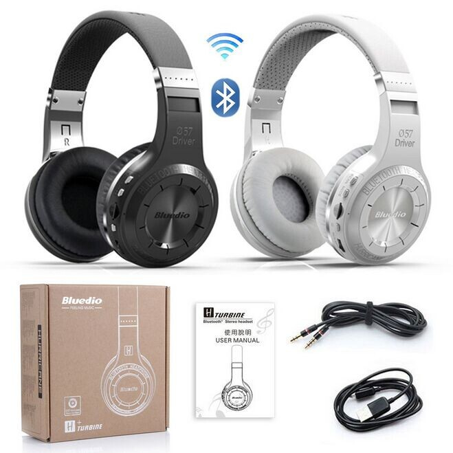 ФОТО Bluedio H+ Bluetooth Stereo Wireless Headphones Built-in Mic Micro-SD/FM Radio BT4.1 Over-ear Headphones