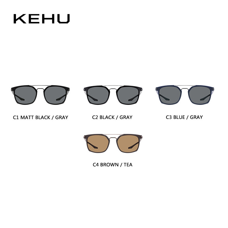 KEHU Pria Persegi Terpolarisasi Kacamata Merek Terpolarisasi Kacamata - Aksesori pakaian - Foto 5