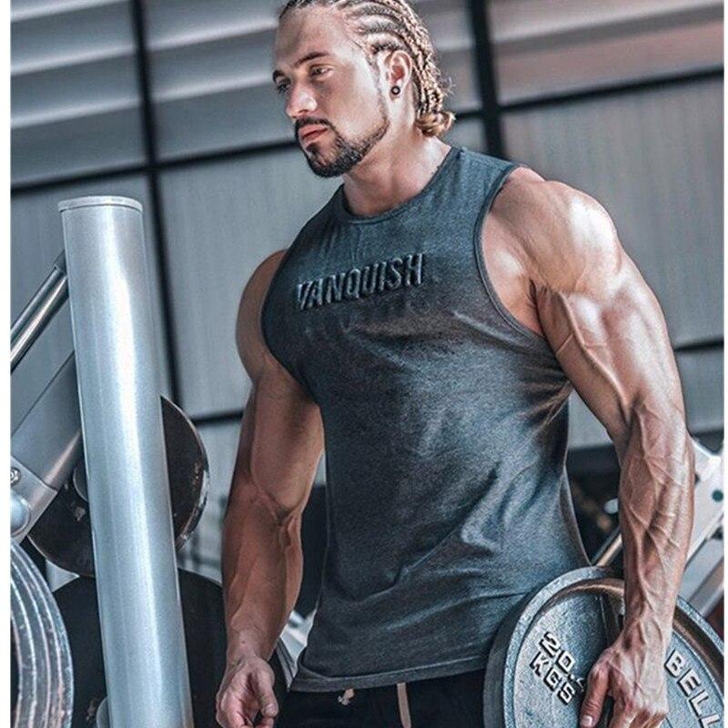 2019 new Body building   Tank     Top   Men   Tank     Top   Fitness Singlet Sleeveless shirt Workout Man Undershirt Clothing