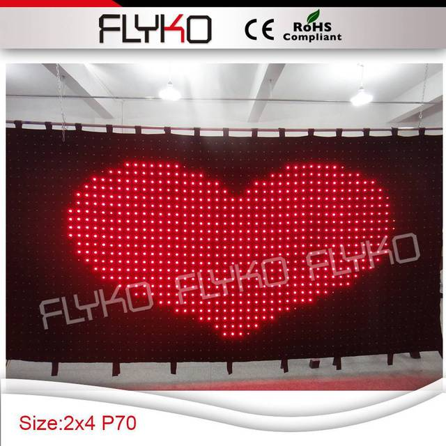 Free Shipping P7 2X4M New Design Good Selling Led Shower Curtain For Stage Decoration