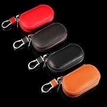 Женские чехлы для ключей, мужские кожаные кошельки для ключей, ключница, органайзер для ключей на молнии, чехол для ключей, сумка, сумочка унисекс, кошелек