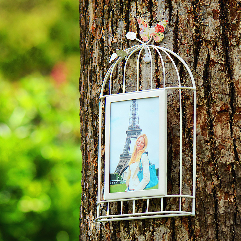 Birdcage Wall Hanging Photo Frame Vintage Picture Frames Family ...
