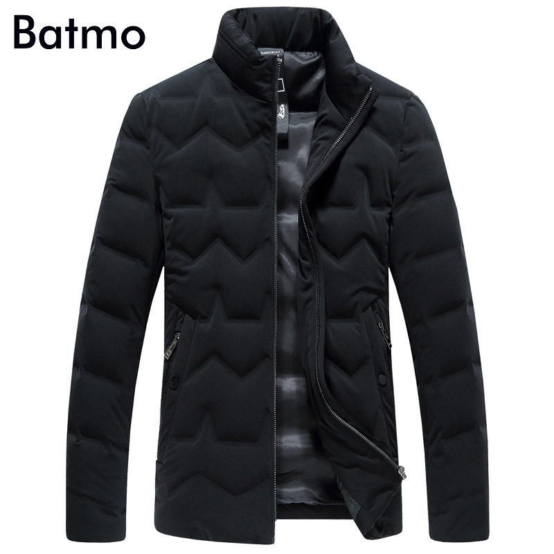 Batmo 2017 new arrival winter high quality keep warm 85% grey down jakcet men,black winter coat men,87638