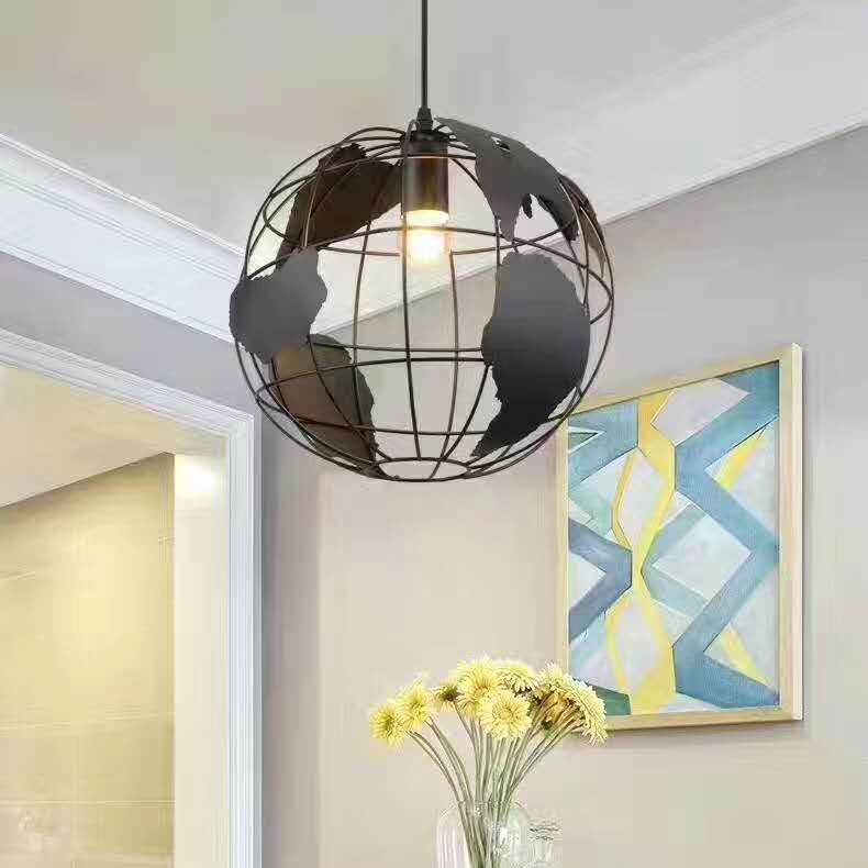 Free shipping Modern Globe Pendant Lights Black/White Color Pendant Lamps for Bar/Restaurant Hollow Ball Ceiling Fixtures modern globe pendant lights black white color pendant lamps for bar restaurant hollow ball ceiling fixtures